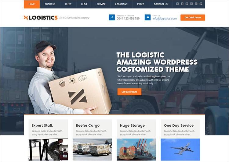 Popular WordPress Transport Templates