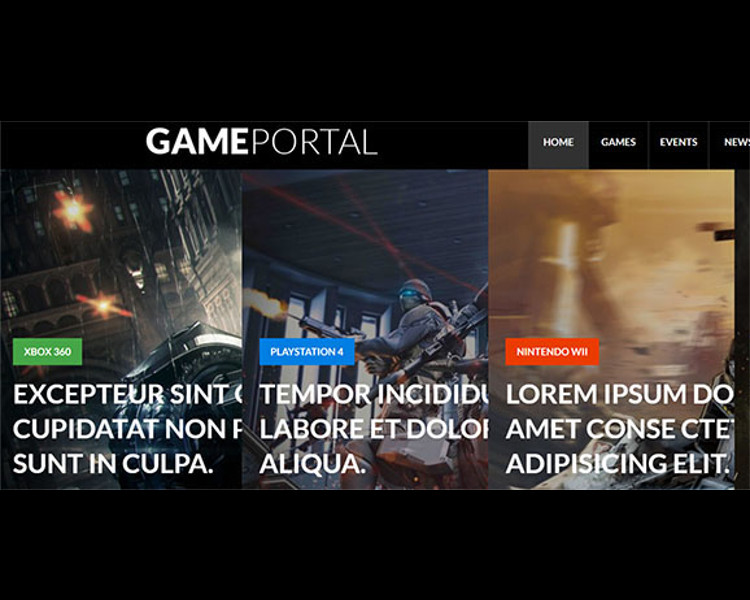 Portal Bootstrap Game Template
