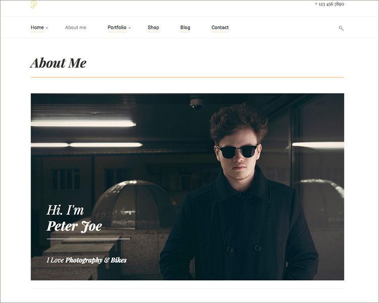 Portfolio Clean Minimalistic Site Template