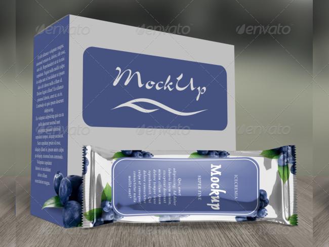 Premium Chocolate Ice Cream Packaging Mockup