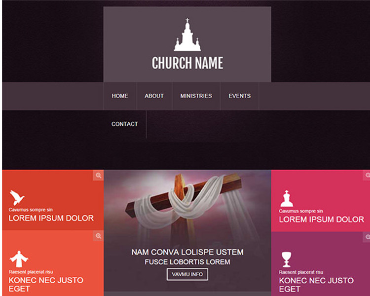 Premium Church Bootstrap Template