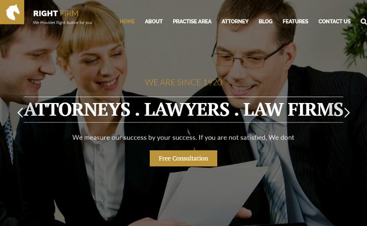 Premium Law Firm WordPress Templates