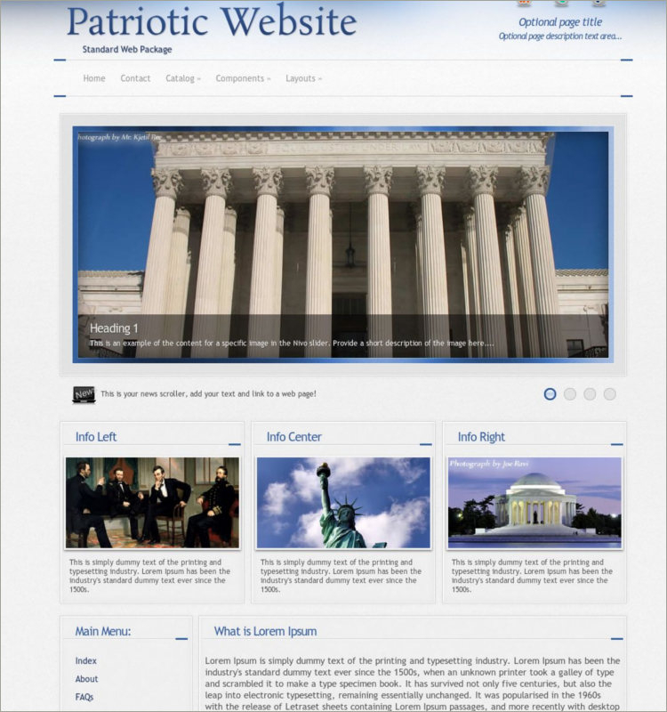 Premium Patriotic WordPress Template