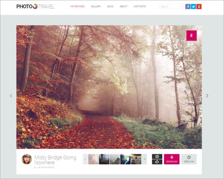 Premium Photo HTML5 Template