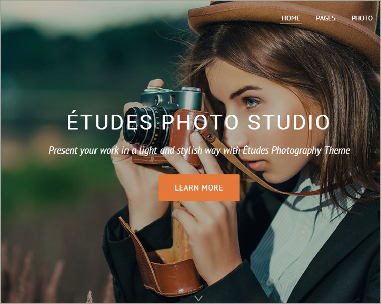 Premium Photography WordPress Theme