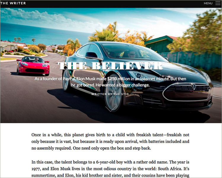 Premium WordPress Blogging Theme