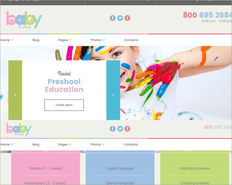 Preschool Education WordPress Theme