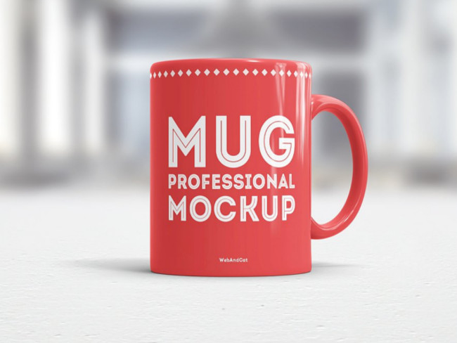 Professional Morning Coffee Mug Mockup