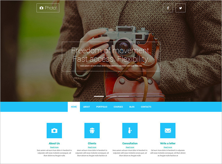 Professional Photography Blog Joomla Template
