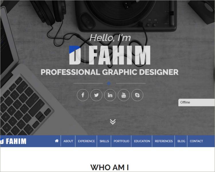 Professional Resume WordPress Template