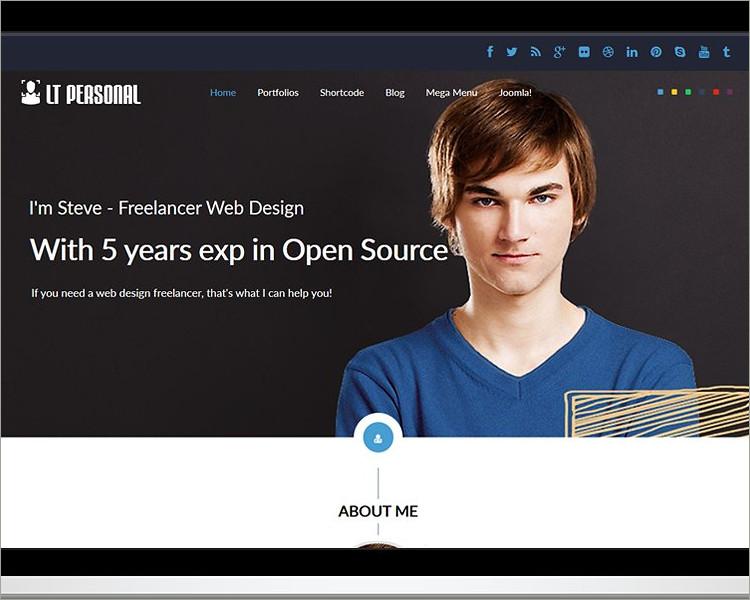 Profile Joomla template