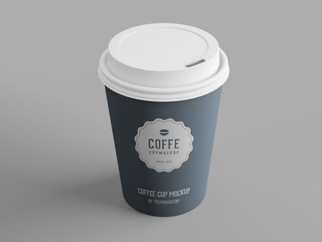 Psd smart object coffee cup mockup