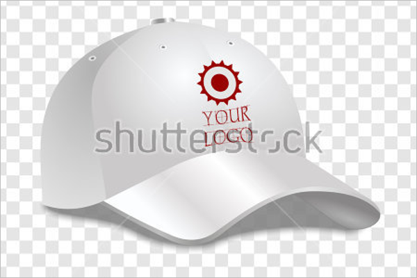 Realistic White Baseball Cap