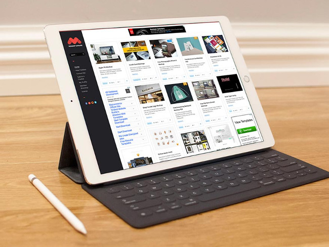 Realistic tablet mock up Free Psd