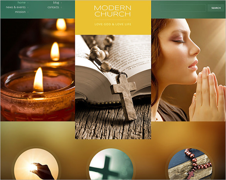 Religious Church Bootstrap Template