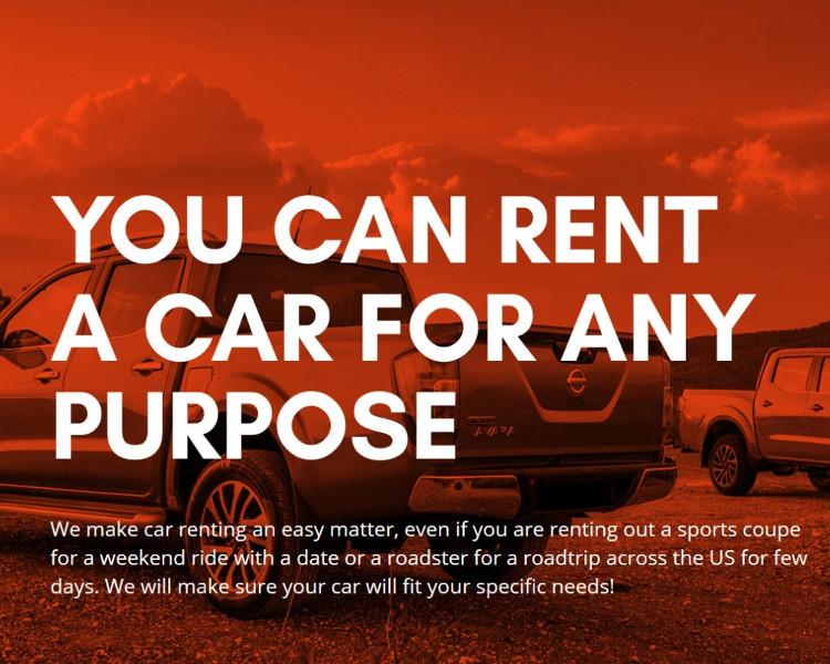 Rental Car Bootstrape Website Template