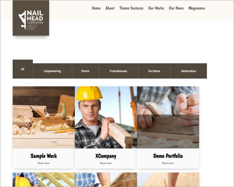 Repairing & Building & Craftsman Theme