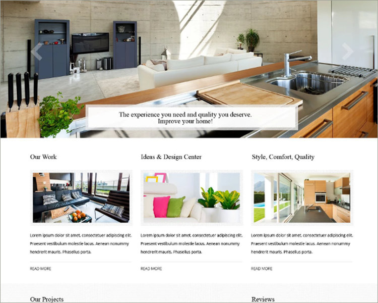 Residential Remodeling Website Template