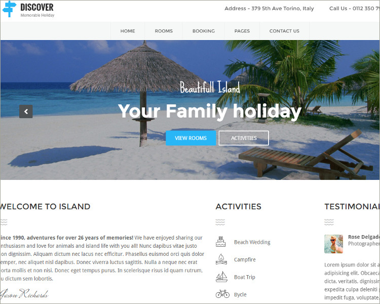 Resort Responsive Theme