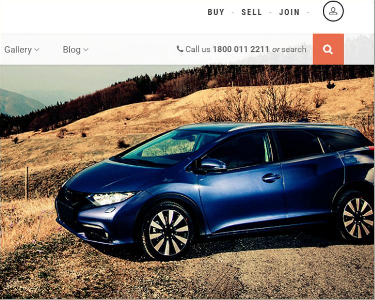 Responsive Car Dealership Template