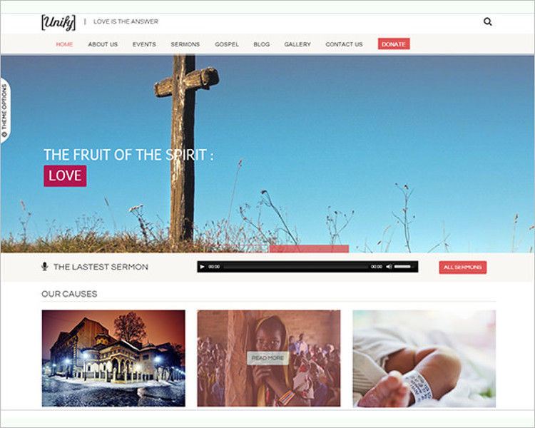 Responsive Church Bootstrap Template