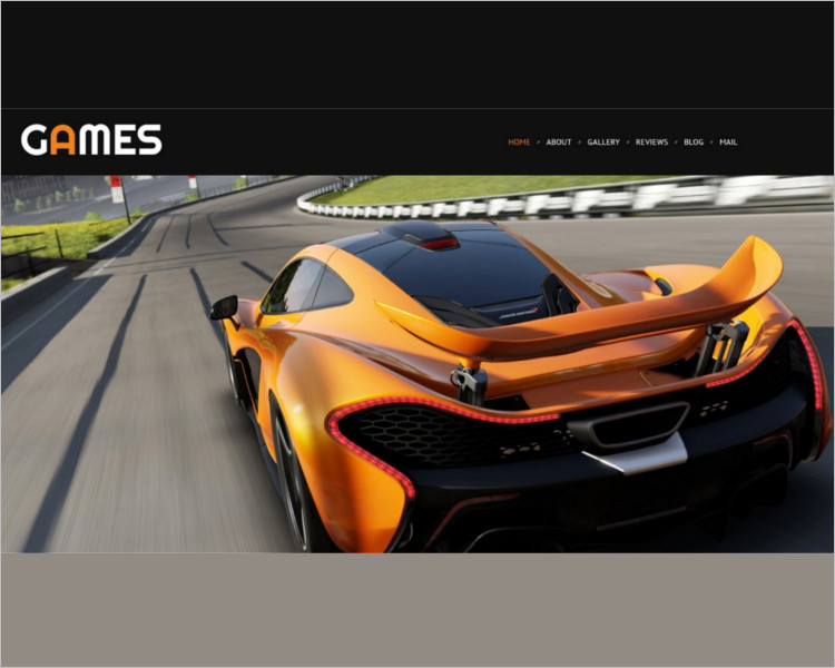 Responsive Game Bootstrap Template