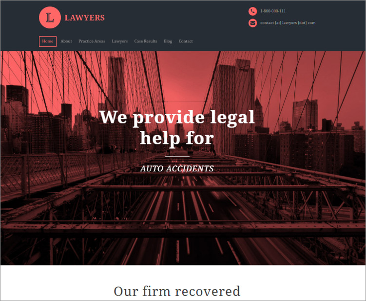 Responsive Law Firm WordPress templates