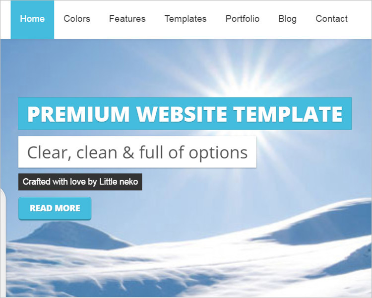 Responsive Snowflake Bootstrape Website Template