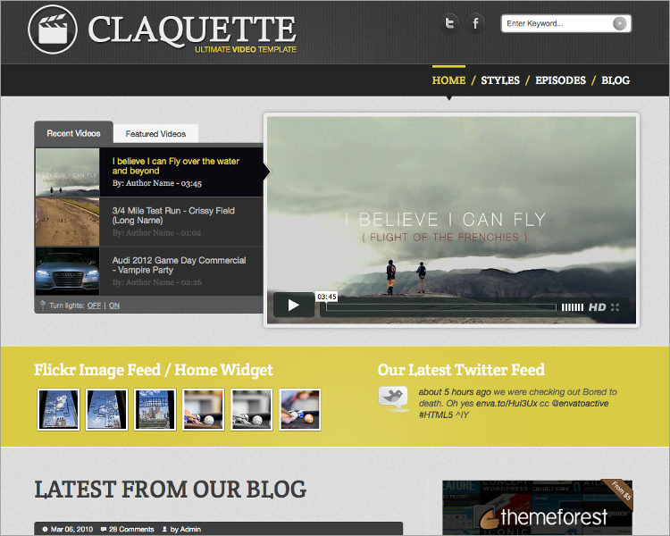 Responsive Video HTML Template