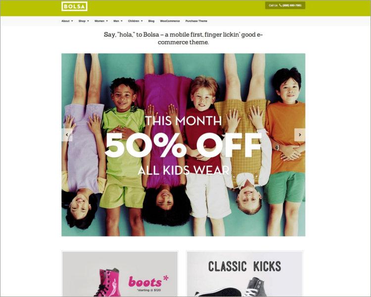 Responsive WordPress E-commerce Theme