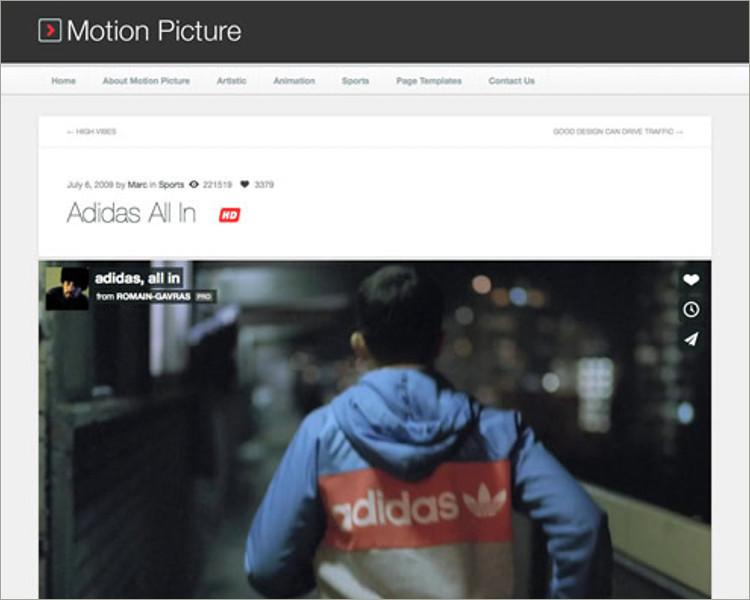 Responsive WordPress Video Theme