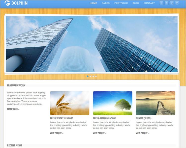 Responsive WordPress video blog Theme