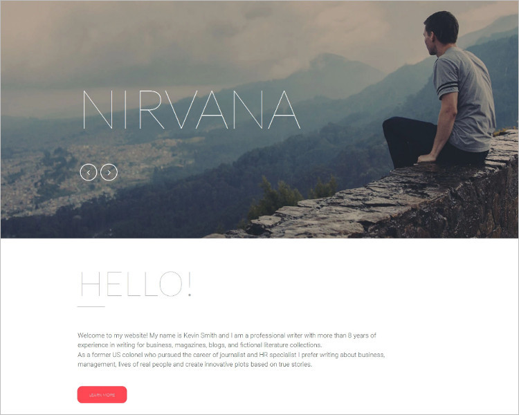Responsive Writer Bootstrap Template