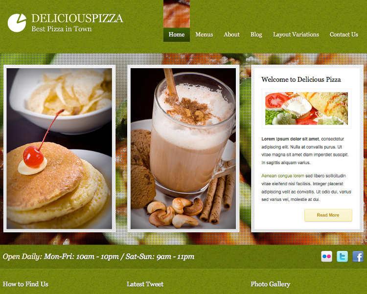 Restaurant Admin WordPress Templates