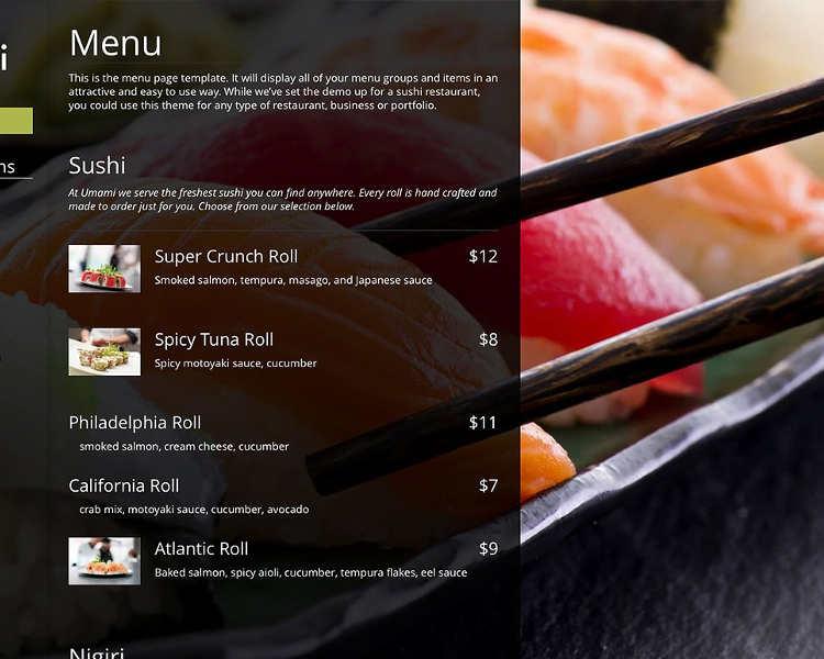 Restaurant Checklist WordPress template