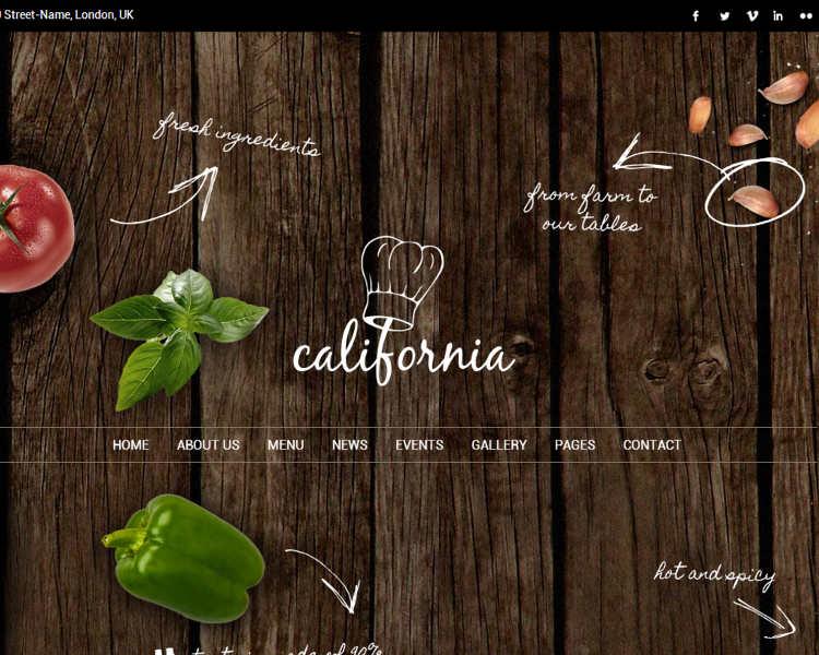 Restaurant Kitchen WordPress Template