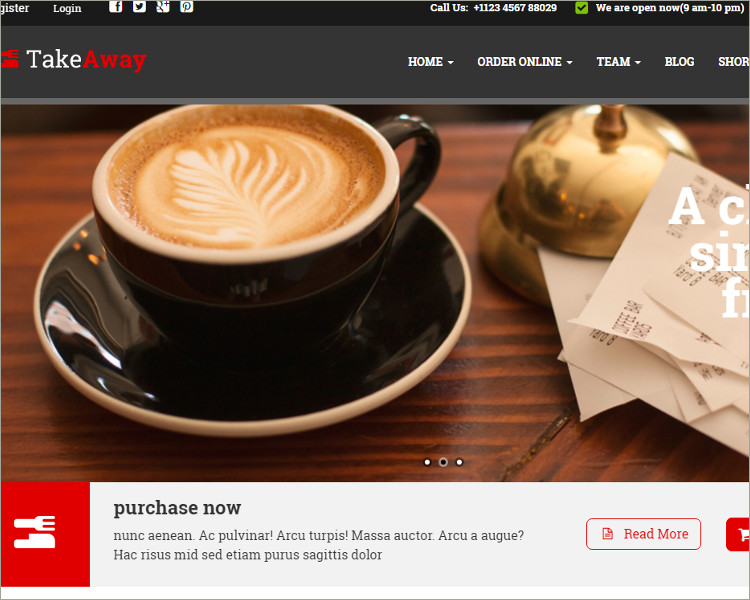 Restaurant & Online Food Ordering WordPress themes