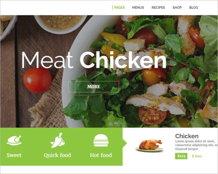 Restaurant Order WordPress template