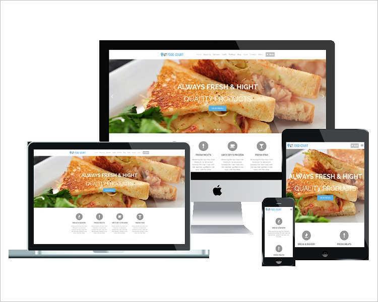 Restaurant Products WordPress template