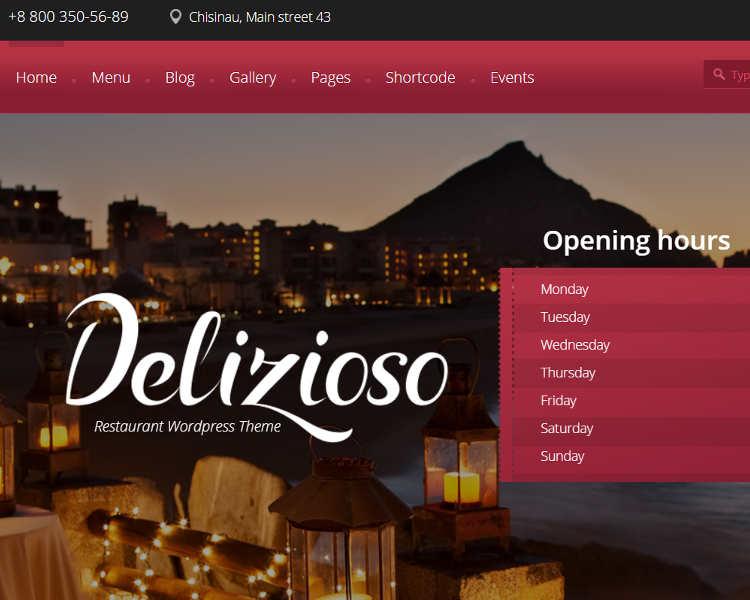 Restaurant Reservation WordPress template