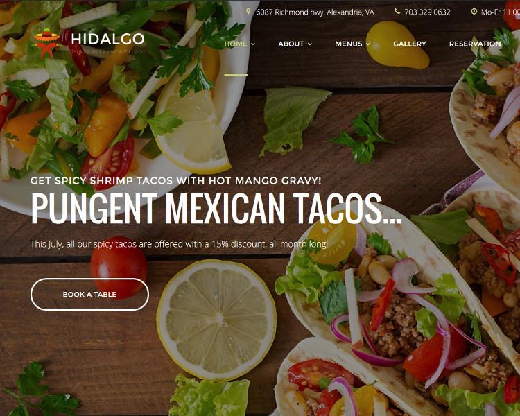 Restaurant Selling WordPress Theme