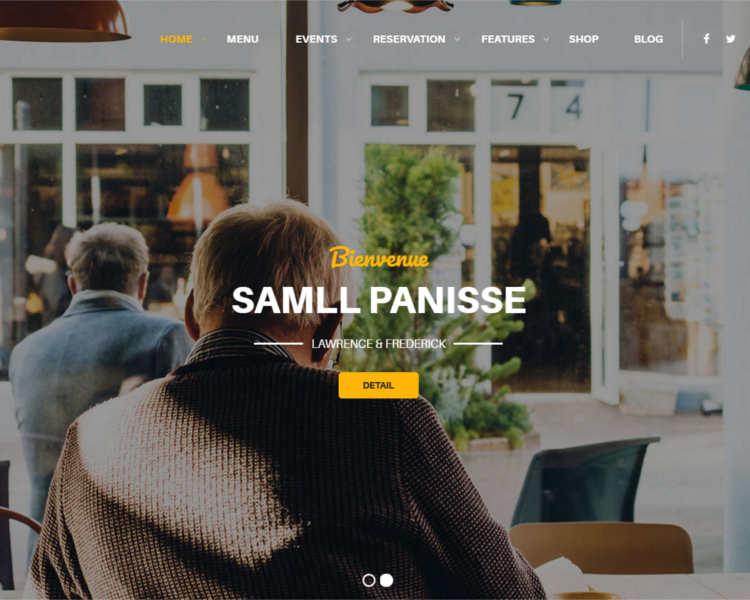 Restaurant advertisement WordPress templates