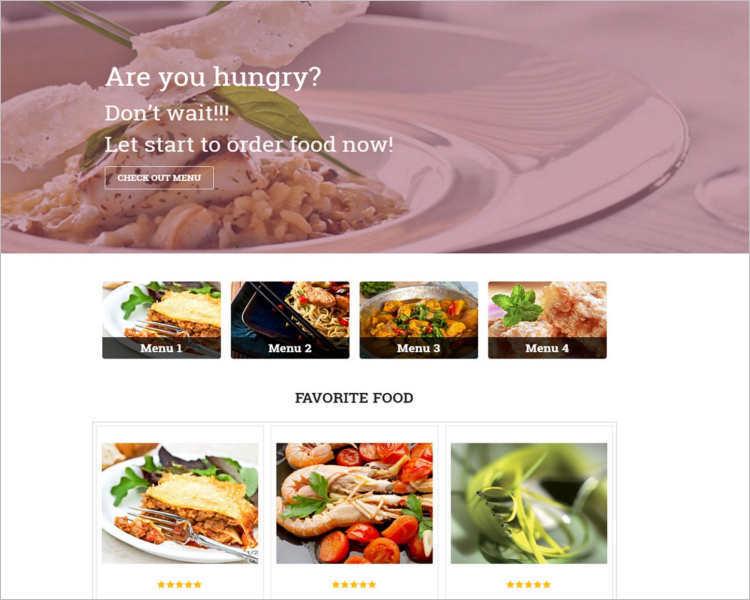 Restaurant directory WordPress template