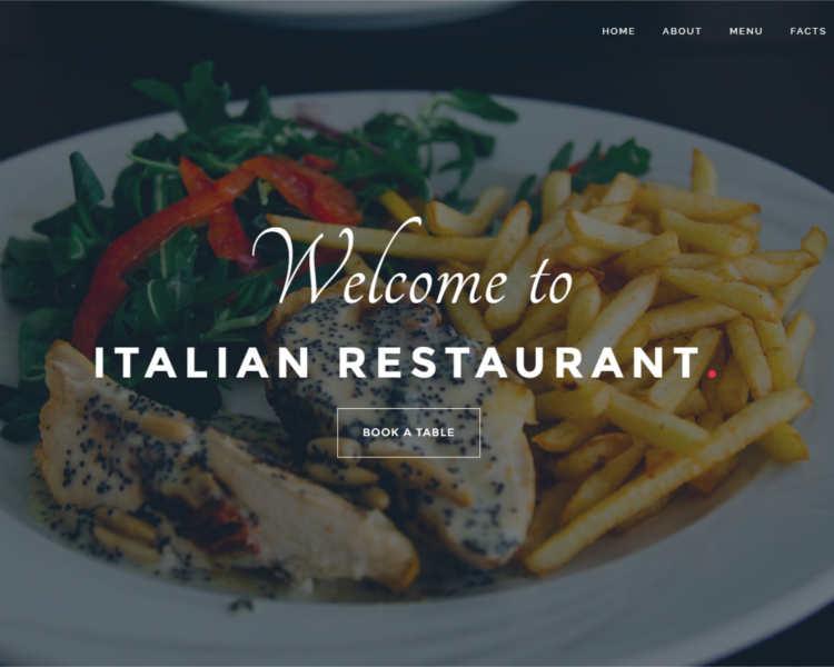 Restauratent Newletter WordPress Template