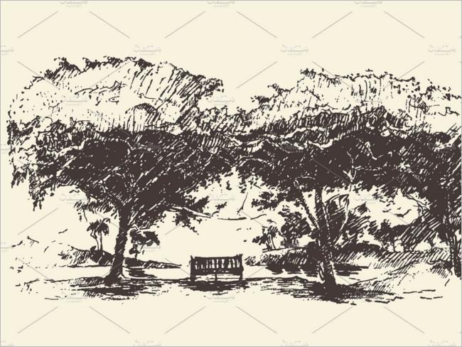 Romantic Illustration Drawing