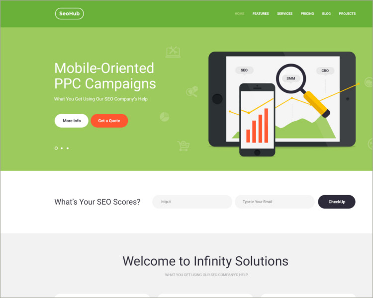 SEO & Marketing WordPress Theme