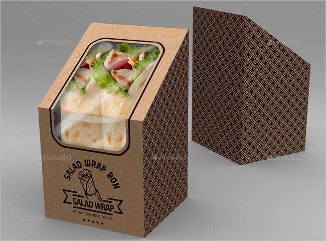 Salad Food Box MockUp Template