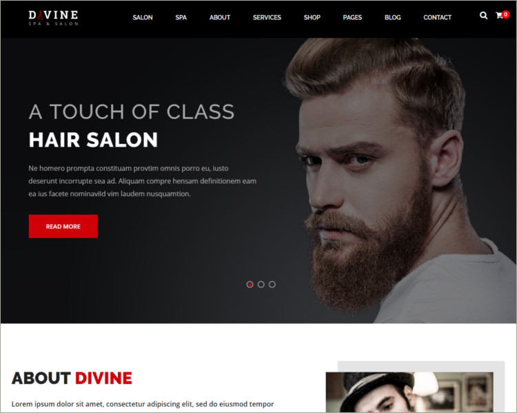 Salon & Spa WordPress Theme