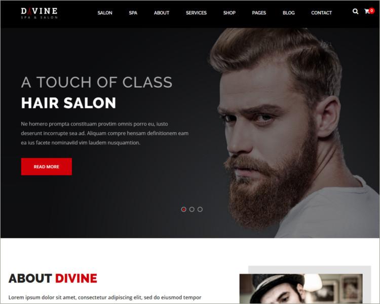 Salon & Spa WordPress Theme