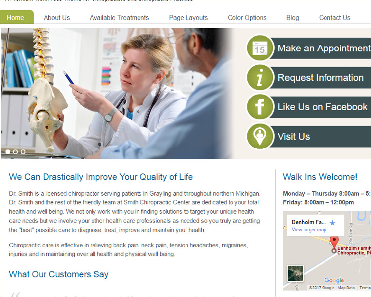 Sample Acupuncture WordPress Theme